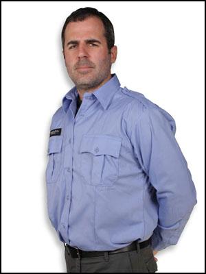 bulletproof vest concealed under a uniform shirt